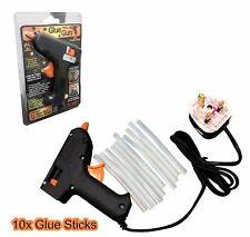 Hot Melt Glue Gun Electric Trigger Adhesive Hobby Craft DIY 10 FREE Glue Sticks
