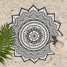 "Huge 70"" Mandala Boho Summer Round Beach Towel Yoga Mat Blanket picnic tapestry"