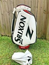 Srixon Z White, Black and Red Staff Golf Bag/6-Way Divider/With Rain cover