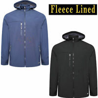 Mens Soft Shell Fleece Lined Hooded Windproof Breathable Outdoor Work Jacket New