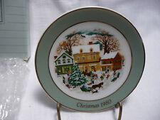 "Avon Miniature Nib Christmas Plate ""Country Christmas"""