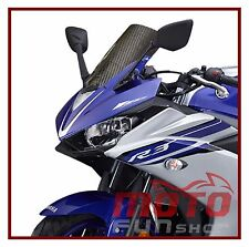 Carbon Fiber Windscreen Windshield For Yamaha YZF-R3 / YZF-R25