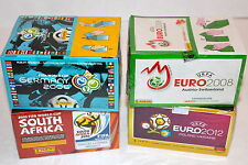 Panini StickerTOP SET 4 x BOX DISPLAY + ALBUM Euro 2008 2012 WM WC 2006 2010