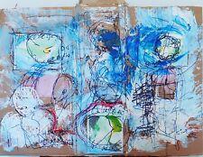 Oeuvre sr carton Morgan MerrheiM Dessin encre peinture expressionnisme streetart