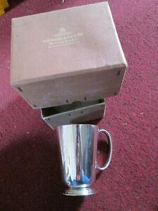 Harrods of London Hard Soldered Sheffield EPSN tankard/cup engraved R.V.B. 1941