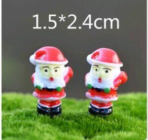 Mini Succulent Fairy Garden Figurines Miniature Christmas Santa Claus