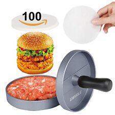 Presse à Burger Steak Haché + 100 Disques de Cire - Diamètre 11.5cm Antia