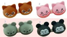 Color Animal Contact Lens Case Pocket Size Storage Holder Container