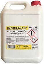 Italchimici acido cloridrico muriatico 5 lt puro al 33% disincrostante per calca