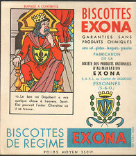 91 ESSONNES BISCOTTES EXONA DEVINETTE BUVARD BLOTTING PAPER