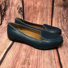Dansko Nastacia Women's Blue Leather Slip On Loafers Size 40 US 9.5 - 10