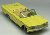 Matchbox Lesney No 39 Yellow Pontiac Convertible - Maroon Base - SPW