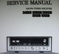 Sansui 8080DB 9090DB 890DB 990DB st récepteur service manual inc schm sanhq eng