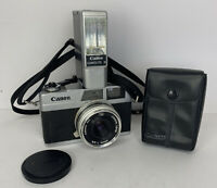 Vintage Canon Canonet 28 35mm Rangefinder Film Camera With Flash