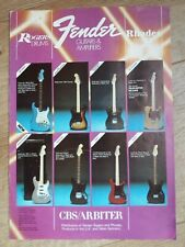 Vintage 1970's/80's Fender Guitars Amplifiers....Fold out brochure...CBS Era...
