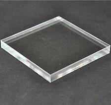 Lastra in plexiglass trasparente spess 6mm dim 25x25cm (taglio lucido laser)
