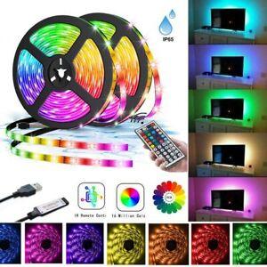 Waterproof USB LED Strip Lights TV Backlight 5050 RGB Colour Changing Tape Light