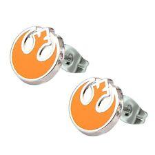 Official Stainless Steel Star Wars Rebel Alliance Symbol Enamel Stud Earrings