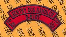 B Battery 2d Bn 71st ADA Air Defense Artillery SENTRY DOG HANDLER scroll arc tab