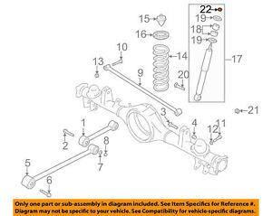 Lock Nut - Shock Absorber /Stabilizer Bar GENUINE GM 96057634 Fits 89-04 Tracker
