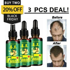 3 Pure Hair Regrow Ginger Oil Germinal Serum Essence Loss Treatment Grow 30ml UK