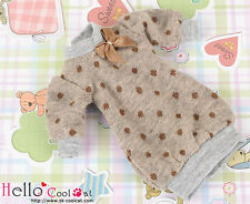 ☆╮Cool Cat╭☆324.【NK-27】Blythe Pullip Puffed Sleeves Clothes # Brown Dot