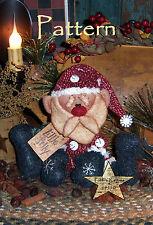 Primitive Patti's Ratties Little Jolly Santa Christmas Doll Paper Pattern 219