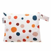 Small Waterproof Wet Bag with Zip 19 x 16cm - Polka Dots Design