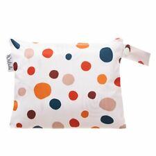 Small Waterproof Wet Bag with Zip 19 x 16cm - Polka Dots Design