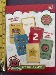 Cocomelon Flash Cards - Learn Colours, Numbers And Even Shapes- 30 Cards - Large