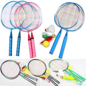 1 Pair Youth Children Kids Badminton Rackets Sports Cartoon Suit Toys Hot Sale