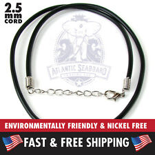 """1pc. Environmentally Safe, Nickel Free Rubber Cord 2.5 mm 17""""-18"""" Necklace"""