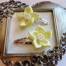 girls hair clips snap clips slides bendies flower hair clip lemon  flowers