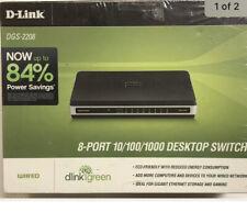 D-Link DGS-2208 8-Port 10/100/1000 Desktop Switch Brand New Sealed