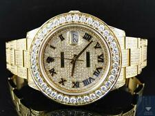 Custom Mens New Yellow Gold Rolex Date Just II 2 With Genuine Diamonds 45 MM