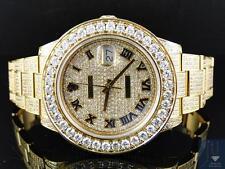 Custom Mens New Yellow Gold Rolex Date Just II 2 With Genuine Diamonds 45 MM