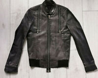 "All Saints Designer Leather Jacket ""S"" Mens Jacke"