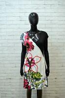 Vestito Donna DESIGUAL Taglia L Abito Tubino Dress Tajer Cotone Nero Floreale