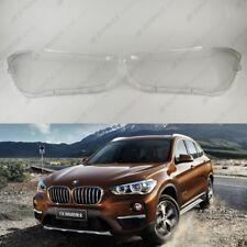 BMW X1 F48 OEM Headlight Glass Headlamp Lens Plastic Cover (PAIR)