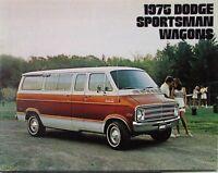 1975 Dodge Sportsman Wagons Color Sales Brochure Original
