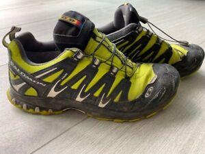 Salomon GORE-TEX CONTAGRIP Schuhe Wander, Trekk, Outdoor Gr.40 2/3 lime