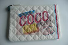 BNIB runway CHANEL VIVA COCO CUBA LIBRE CANVAS O CASE CLUTCH bag POUCH