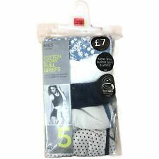 Ladies Underwear Knickers M&S Full Briefs Pack of 5 Cotton Lycra Size 6 to 20