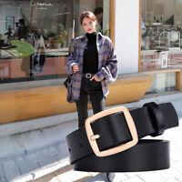 New Hot Fashion Women Men Belts Leather Metal Pin Buckle Waist Belt Waistband*TR
