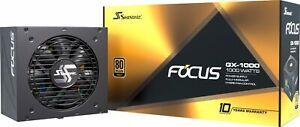 Seasonic - FOCUS GX-1000, 1000W 80+ Gold PSU, Full-Modular, Fan Control in Fa...