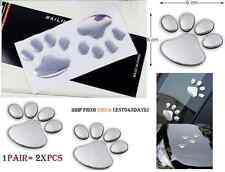 1 pair 2x 3D Bear Paw Pet Footprints Car Truck Decor Sticker Decal Foot print 2,