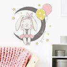 Cartoon Moon Bunny Wall Stickers Background Decoration Sticker Home Decfo