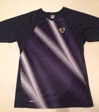 Nike TIEMPO Fit DRY L Midnight Blue Athletic Shirt EUC