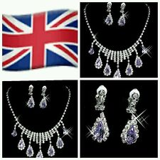 Unbranded Cubic Zirconia Alloy Costume Jewellery Sets