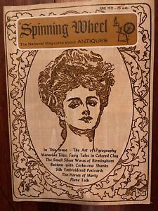 Spinning Wheel Magazine About Antiques June 1971 Pyrography Moravian Tiles